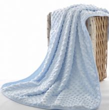 Baby Blue Bobble Pram Blanket